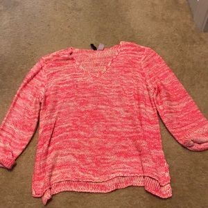 H&M pink & white sweater